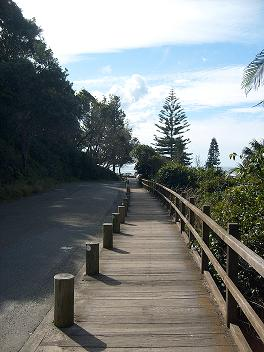 picture of boardwalk to shelly beach